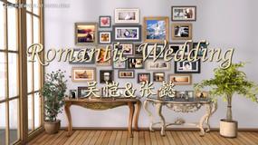 家居风照片墙婚礼家庭个人写真相册含音乐