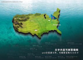 高尔夫球场创意陆地模板psd源文件