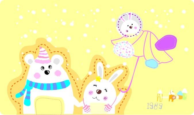 卡通小兔子图案