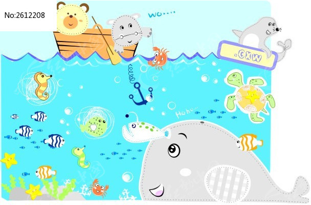 卡通动物形象图案设计cdr下载