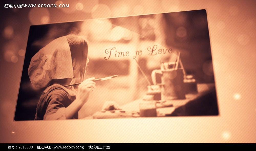 浪漫爱情婚礼ae相册模板 含音乐