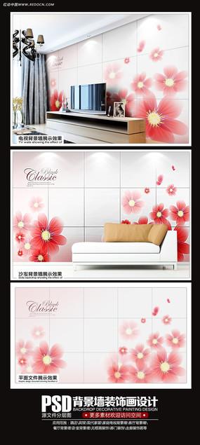 颜色淡雅背景墙图片