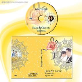 高贵黄色婚礼dvd光盘封面