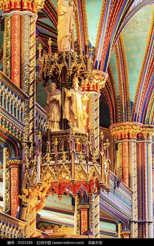 诺特丹圣母大教堂圣像细节图片