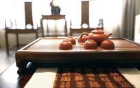 客厅茶案装饰