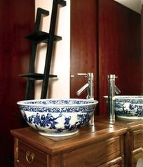 中式洗漱台装饰