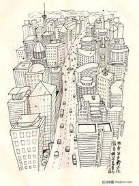 插画-城市