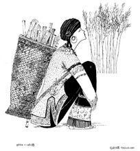 插画-乡村女孩