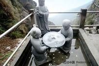 庐山风景  雕塑 人财两旺
