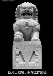 石头狮子正面高清特写
