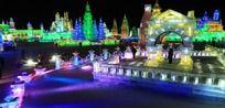 第13届哈尔滨冰雪大世界 小桥冰灯