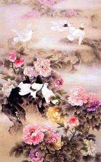 牡丹花国画 花鸟画