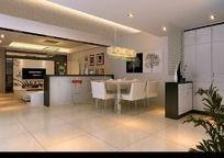 家居设计客厅厨房效果图设计