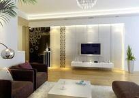 家居设计客厅电视墙效果图设计