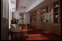 家居设计书房效果图设计