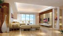 清爽家居设计客厅效果图设计