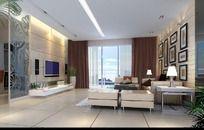 清新室内设计豪华客厅效果图制作
