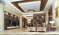 室内设计豪华客厅效果图制作图片
