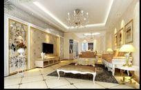 豪华客厅室内设计个性客厅效果图
