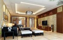 室内设计个性客厅效果图