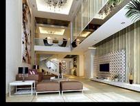 跃层别墅客厅设计