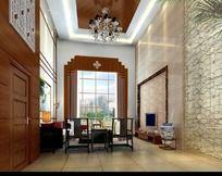 豪华复式室内设计客厅效果图