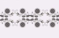 小菊花的装饰纹样