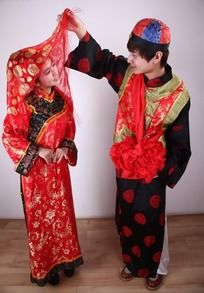 婚纱摄影新郎新娘古装艺术照