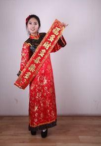 春节对联美女图片
