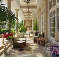 室内外阳台效果图陶瓷砖