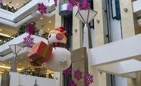 圣诞节商场装饰雪人