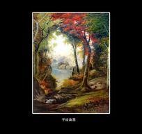 风景树林油画