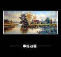 风景田园风景油画