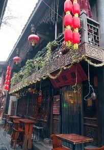 中式古建筑咖啡馆