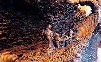 栩栩如生的八仙过海木雕工艺品