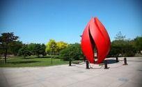 公园雕塑小品摄影