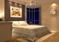 简洁欧式卧室装饰效果图