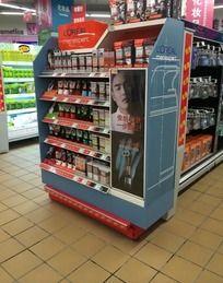 超市男士洗面奶货架