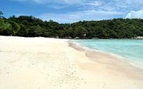 浪漫的白沙滩