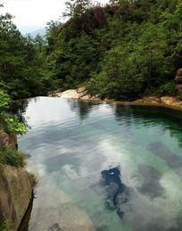黄山东海景区溪流