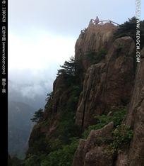 黄山山峰悬崖