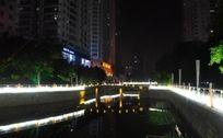 市区河道灯光