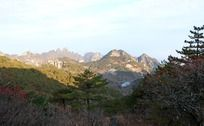 黄山群山秋天风景