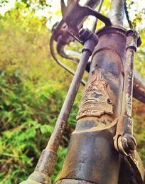 怀旧老式自行车