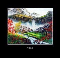 山间风景油画
