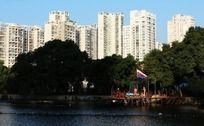 温州九山公园湖景