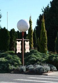 迷你高尔夫运动场标志牌