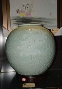 清影雕刻招财缸