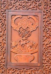 福鼠木雕刻图案