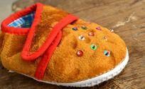 黄色宝宝布鞋 保暖鞋